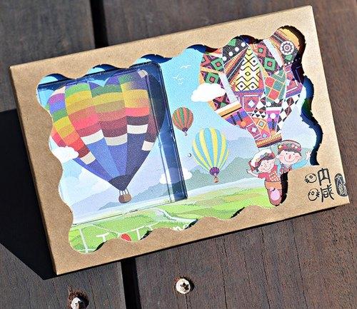 台灣系列~台東熱氣球~30秒 聲光  可錄音 相框照片 卡片 節慶  禮物 錄音 觀光 紀念
