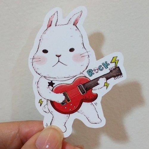超黏防水贴纸 / rock就爱大白兔