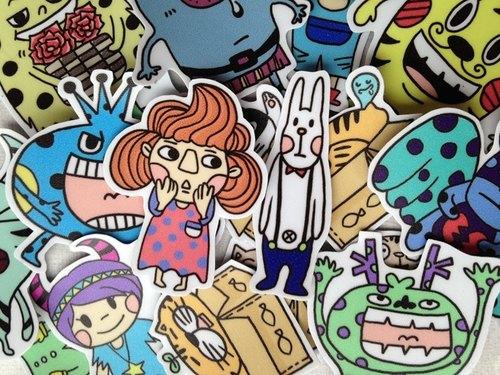 Leep-可愛手繪貼紙組(整組) - LeeP's Doodle | Pinkoi