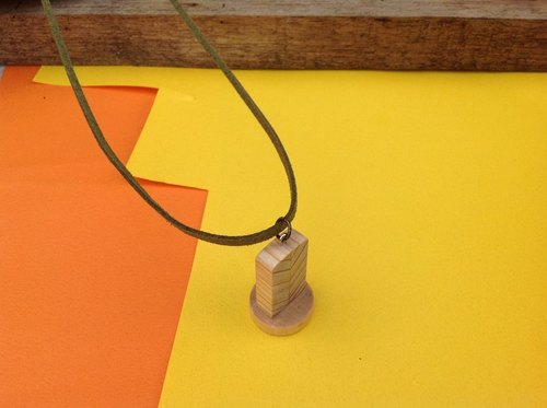 项链∞秋天的小叶子墓碑【限量】手工木制