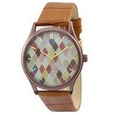 菱形圖案手錶