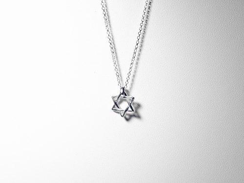 六芒星 925純銀項鍊