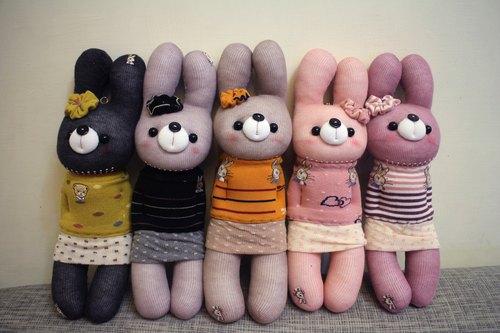 蕾莉兔袜子娃娃-玛汀袜子娃娃