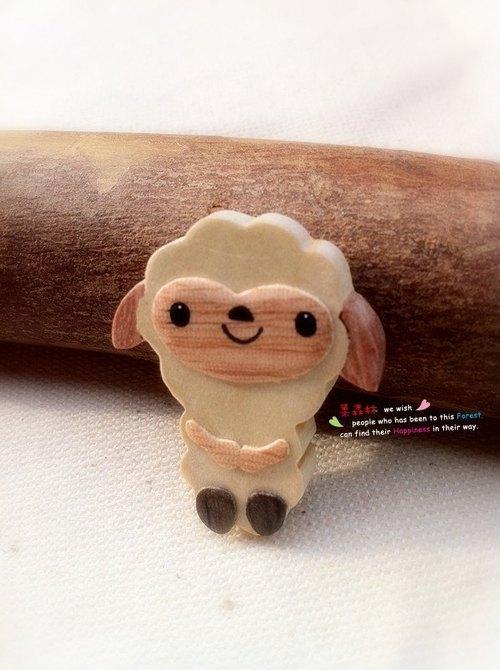 圆木片小动物造型