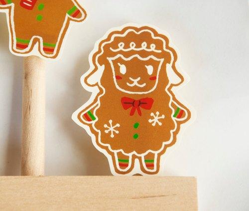 {Xmas} 聖誕款貼紙:薑餅楊小姐
