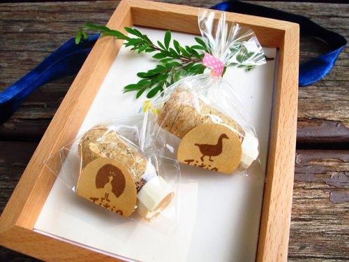 【现货商品】手工橡皮章-圣诞红酒瓶塞(小鸭)