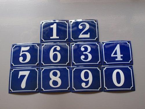 中文名称:珐琅门牌 号码牌 数字1-0