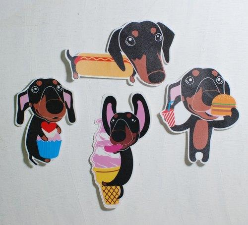 毛小孩貼紙/臘腸狗/防水貼紙