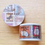 Aimez le style 寬版和紙膠帶 (03454 動物郵票)