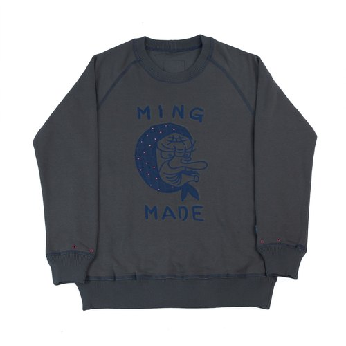 MING MADE® The Hyottoko in Desire Sweater 刷毛大學T (長袖衛衣) 深灰