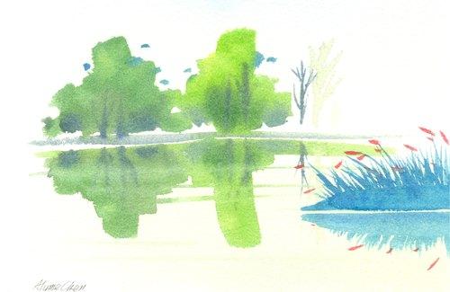 「疗愈系树林系列1-50」水彩手绘限量版明信片/贺卡