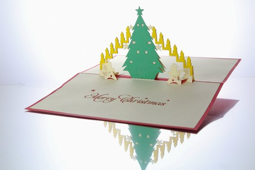 3d圣诞树立体卡片