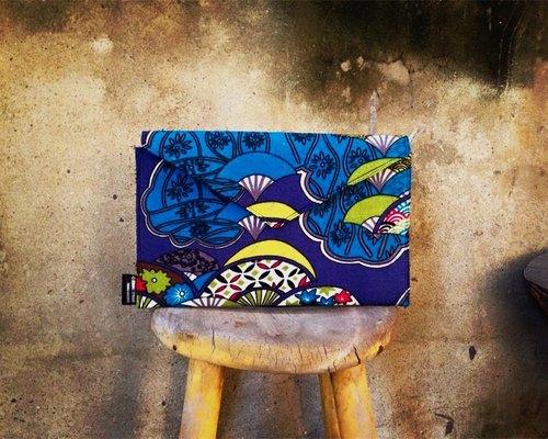 【手拿包/側揹包/信封包Dream Bag-日式浴衣扇子-藍款】