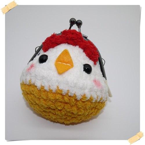 棉花糖动物口金包-小鸡 - 小王子的棉花城堡 | pinkoi