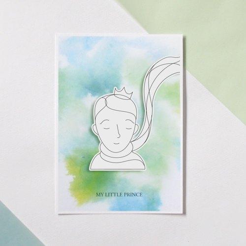 圣诞节-diy涂色圣诞明信片-小王子系列之小王子