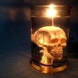 EYE LAB 白色骷髏頭罐裝香氛蠟燭 300ml