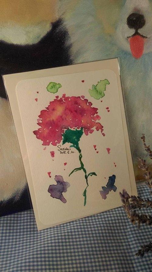 原稿手绘水彩-感恩卡片-送给最重要的他