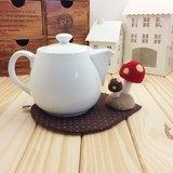 點點系。蘑菇爸爸帶囝仔 一起喝茶趣。手工壺墊