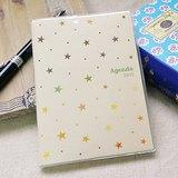 amifa 2015 迷你手帳+筆記本【27808 閃亮星星-乳白色】