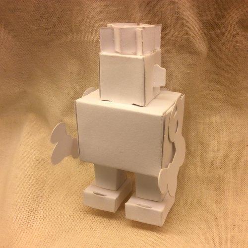 韻田玩創[機器人]紙公仔彩繪手作DIY-A5尺寸-懷舊主題系列-一份一張