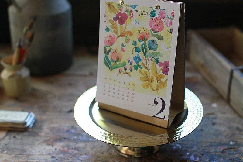 Fion Stewart 2021 Illustrated Desk Calendar-World's Flower Shop