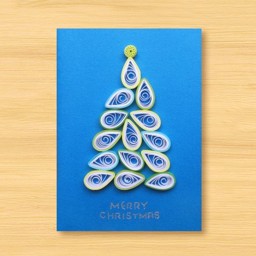 手工卷纸卡片:圣诞树 k(圣诞卡,圣诞节)