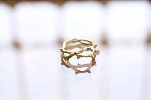 < hand in hand > 黄铜-荆棘冠冕 戒指 (0304)