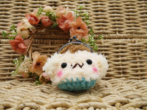 毛线编织动物零钱包 mini口金包-猴子