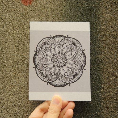 手绘曼陀罗明信片 / 之四
