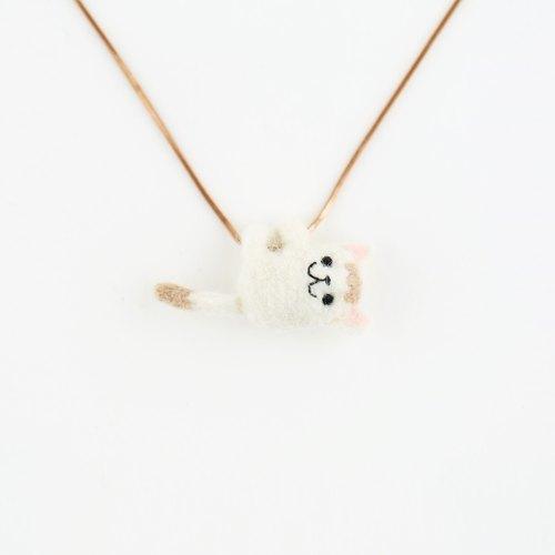 羊毛毡项鍊(小动物非固定可移动)