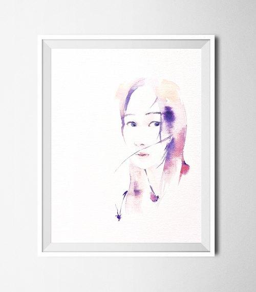 定制人物双人画像/北欧风铅笔素描水彩画/送礼家饰