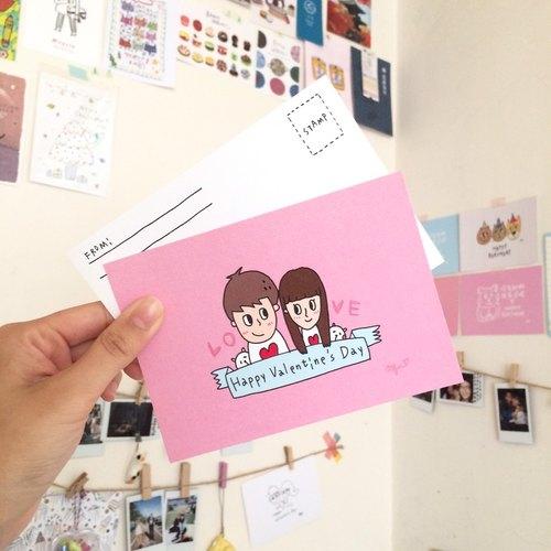 Valentine's Day 明信片