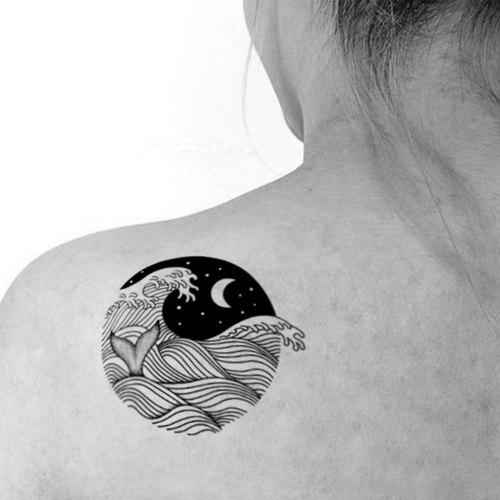 tu纹身贴纸-浮世绘海浪/刺青/防水纹身/原创