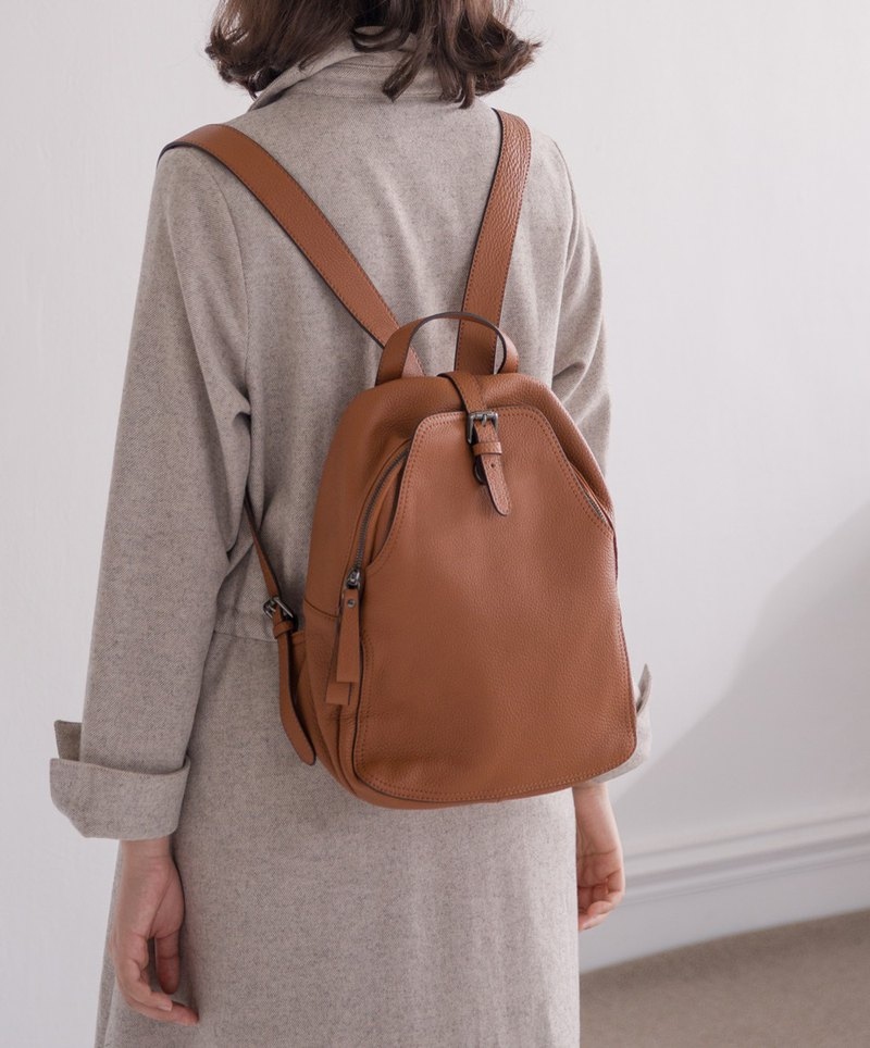 Simple wild casual backpack coffee
