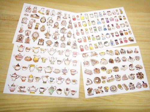 下午茶系列白底明信片 Afternoon Tea Postcard Set