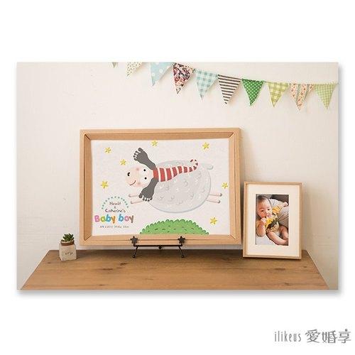 【小手画 / 小脚画 婴幼儿成长纪念框】可爱动物园 – 追梦小羊 &lt