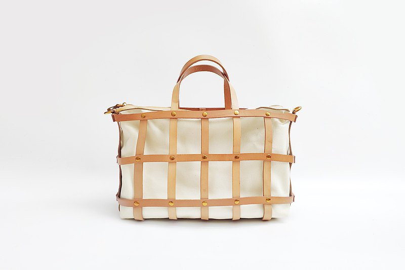 New AMEET woven series vegetable tanned cowhide portable diagonal woven bag picnic bag travel bag