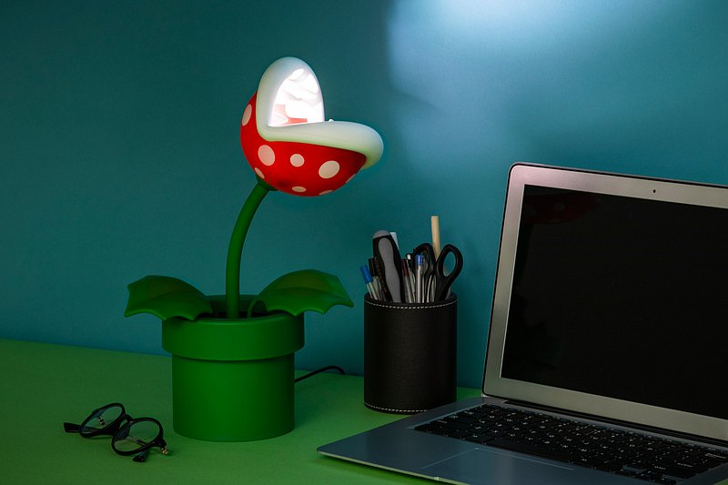 Officially Licensed Nintendo Mario Piranha Plant Posable Lamp