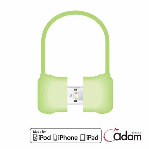 【Lightning - USB】MFi認證手提包傳輸線 10cm 綠4714781440301