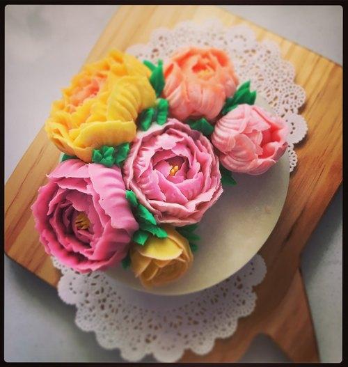 牡丹花欉蛋糕皂