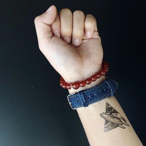 cottontatt blue whale 蓝鲸 手绘 纹身贴纸