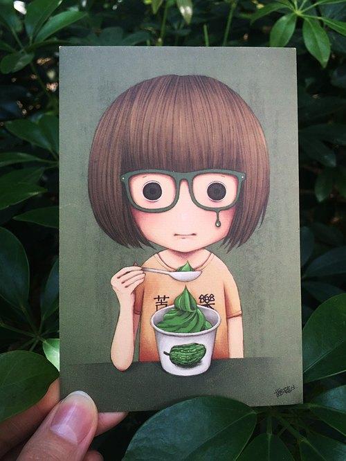插畫明信片 / 苦乳酪 Bitter Yogurt