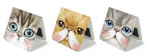 &Cabinet 磁鐵書籤 - Close Up Cats
