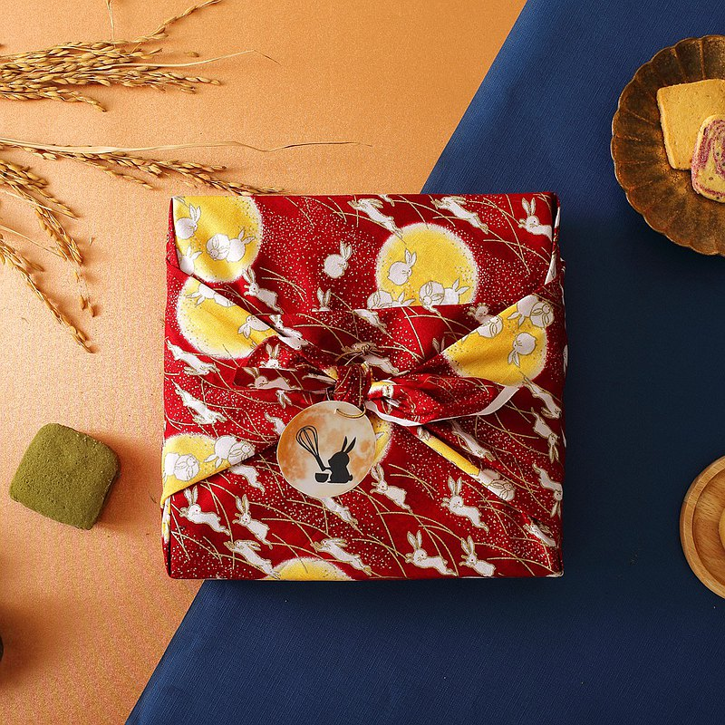 【Mid-Autumn Festival】Moon White Rabbit Furoshiki Gift Box (Sandwich Cake)