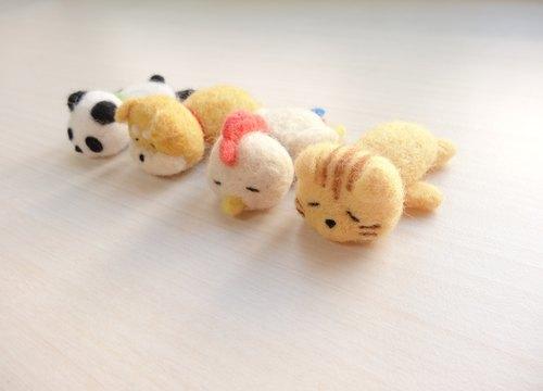 """动物上班族累趴系列-羊毛毡 """"钥匙圈,吊饰,摆饰&quot"""