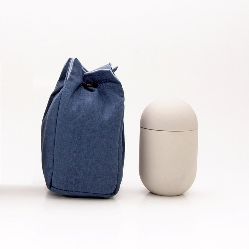享福茶倉(附旅行保護袋) Round Tea Can + bag