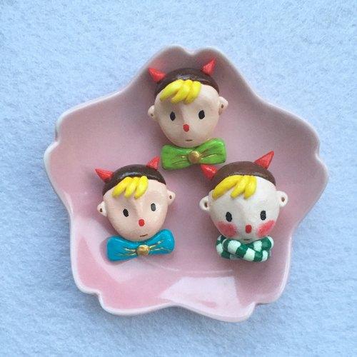 小王子卡通创意礼物人偶芭比娃娃可爱精灵超轻粘土纸黏土陶土胸针别针