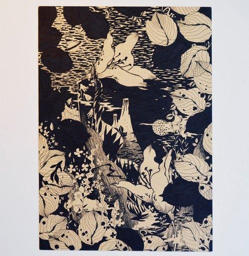 日式 復古 浮世繪 文青 原創 獨特手繪插畫