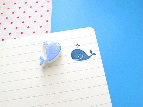 apu手工橡皮章 迷你小鲸鱼印章