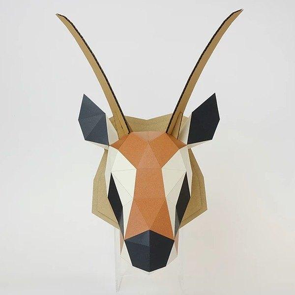 bog craft 立体动物纸艺 gazelle-瞪羚/l 大型壁挂(含